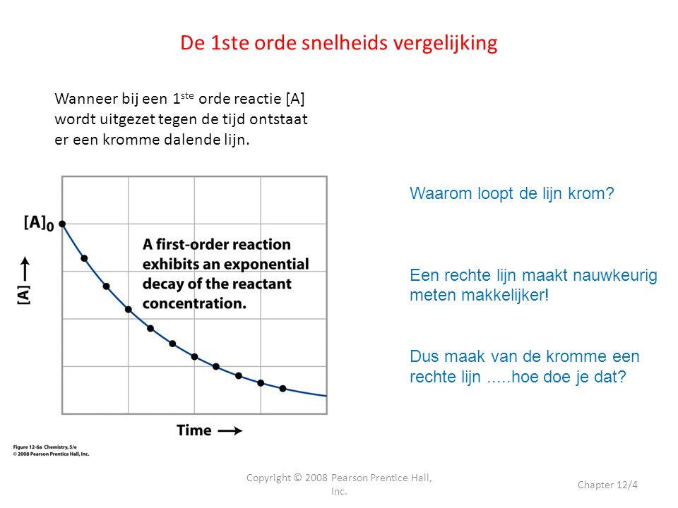 De 1ste orde snelheids vergelijking