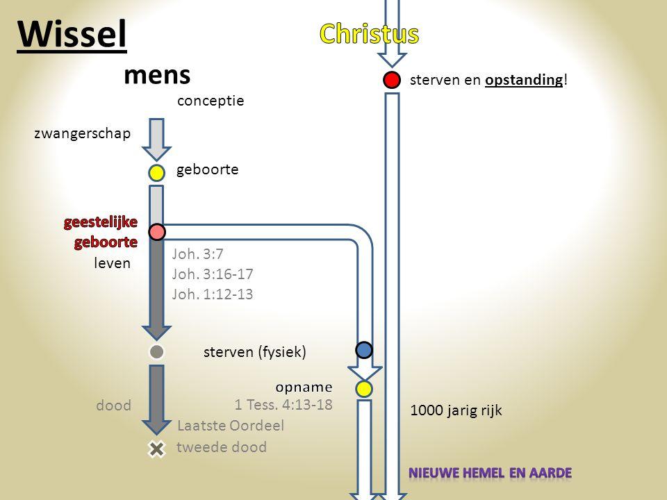 Wissel Christus mens sterven en opstanding! conceptie zwangerschap