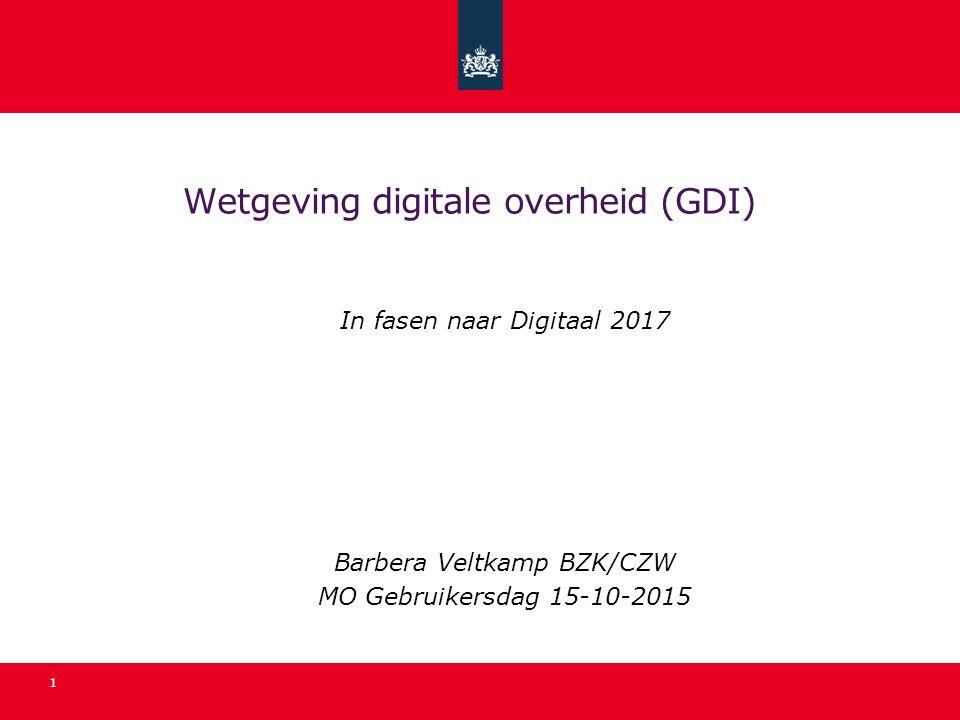 Wetgeving digitale overheid (GDI)