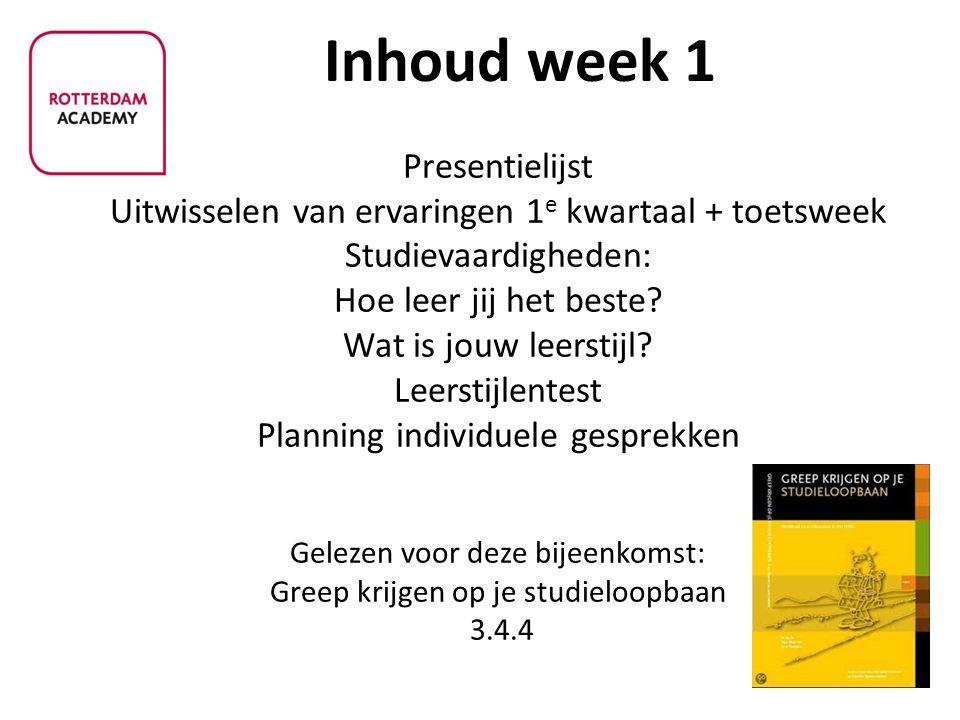 Inhoud week 1
