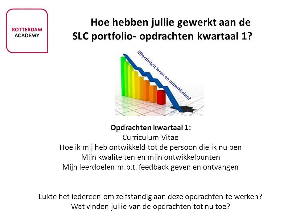 Hoe hebben jullie gewerkt aan de SLC portfolio- opdrachten kwartaal 1