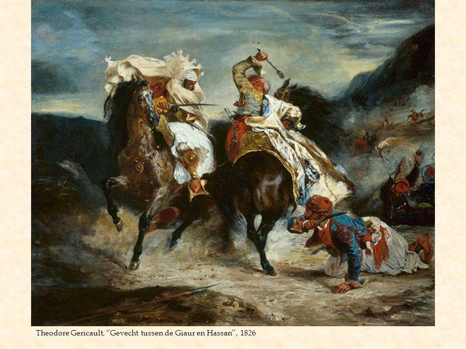 Theodore Gericault, Gevecht tussen de Giaur en Hassan , 1826