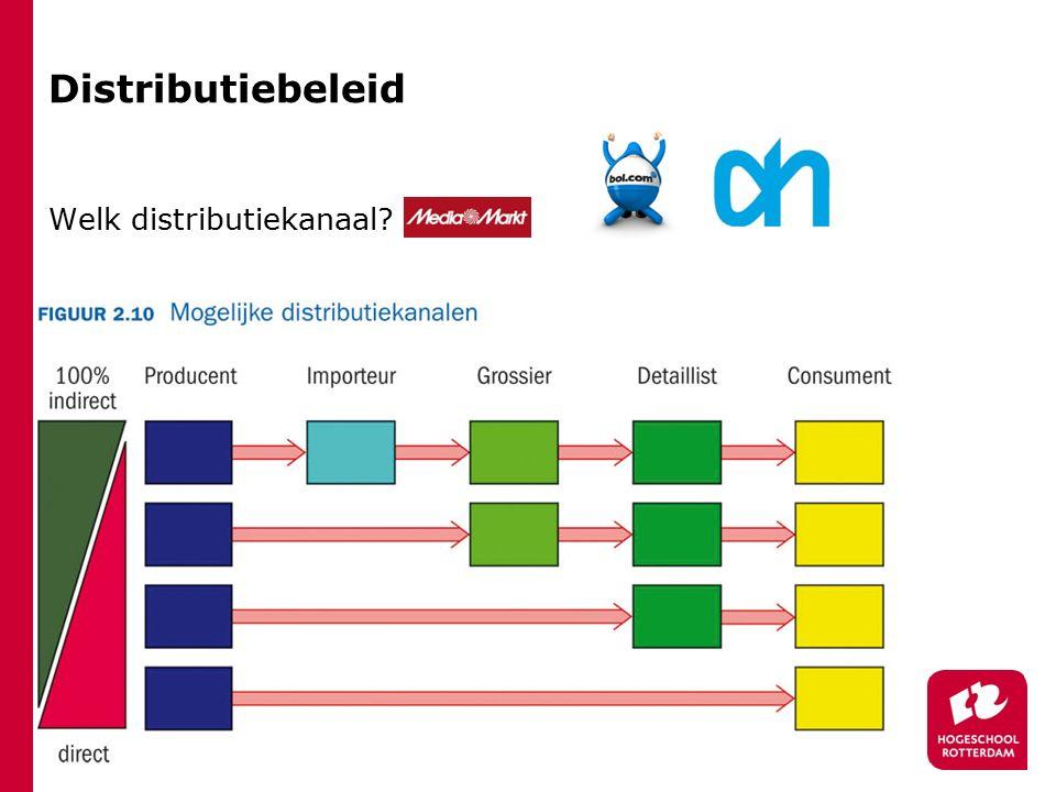 Distributiebeleid Welk distributiekanaal