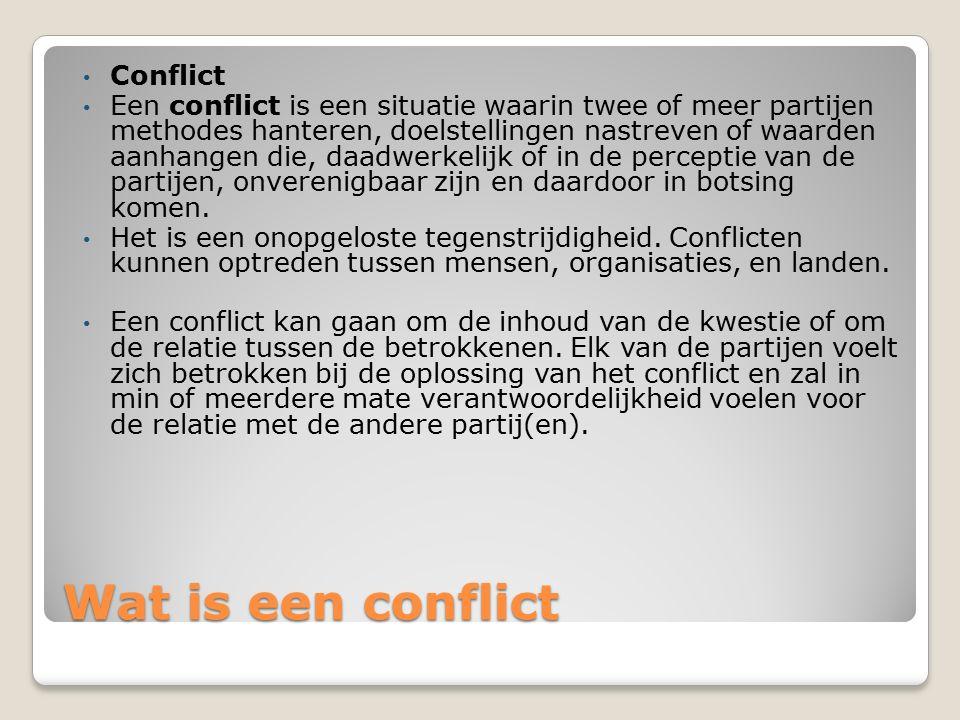 Wat is een conflict Conflict
