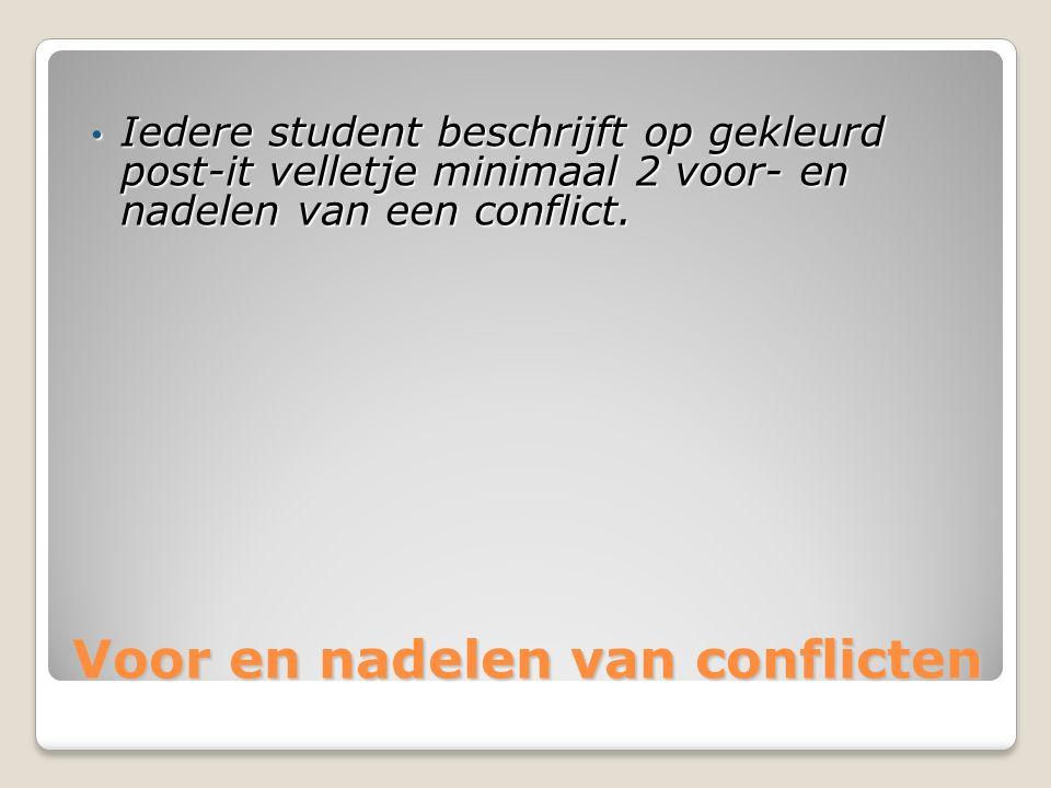 Voor en nadelen van conflicten