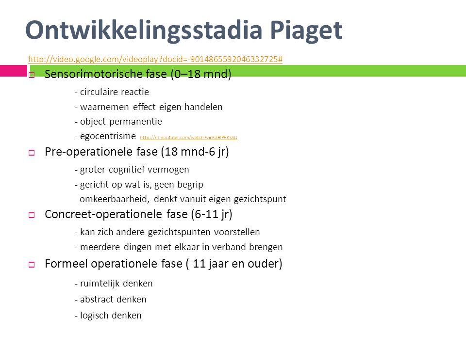 Ontwikkelingsstadia Piaget