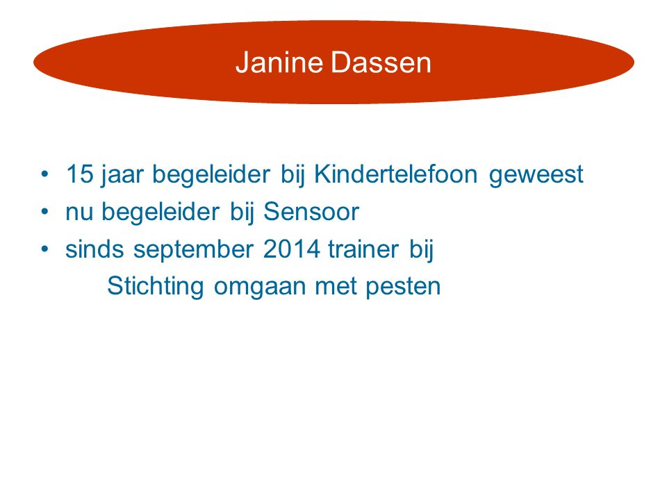Janine Dassen 15 jaar begeleider bij Kindertelefoon geweest
