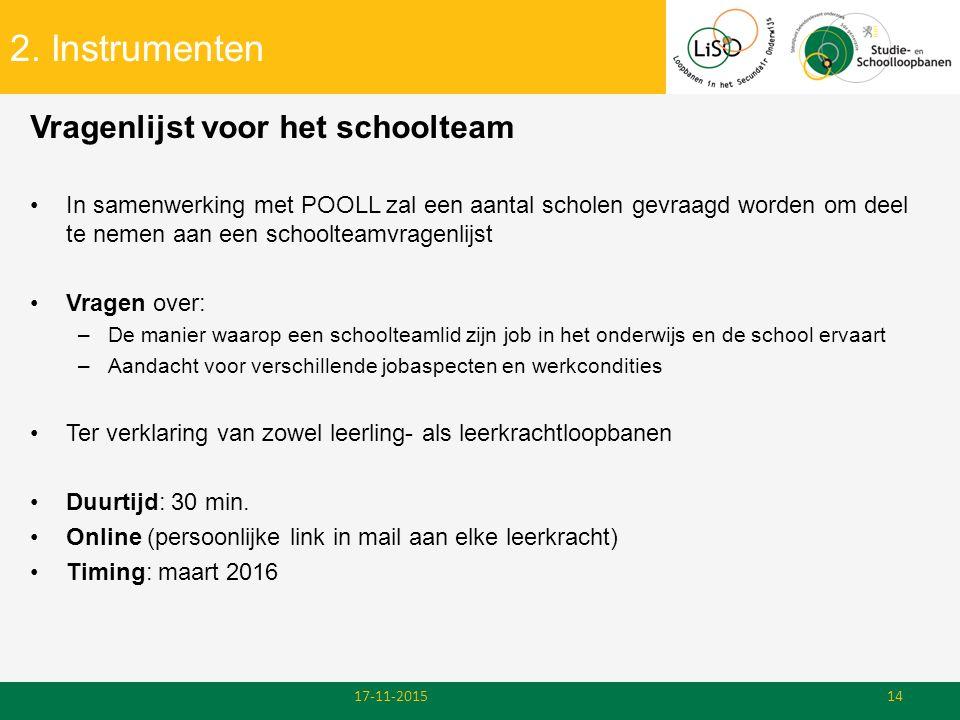 2. Instrumenten Vragenlijst voor het schoolteam