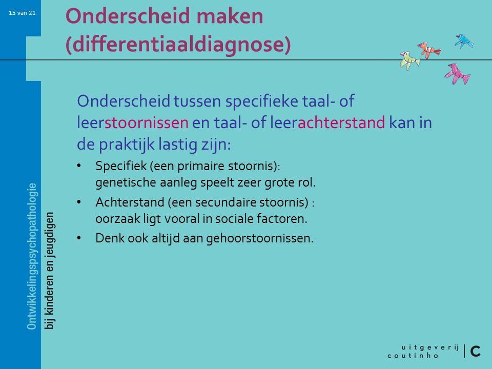Onderscheid maken (differentiaaldiagnose)