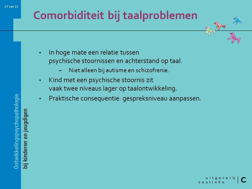 Comorbiditeit bij taalproblemen
