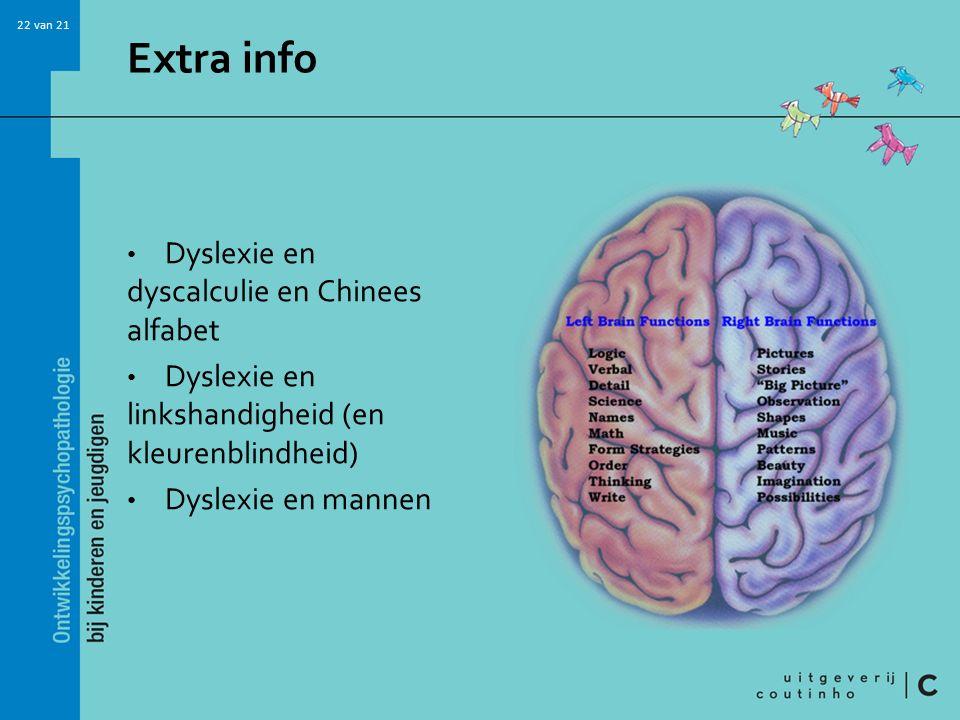 Extra info Dyslexie en dyscalculie en Chinees alfabet