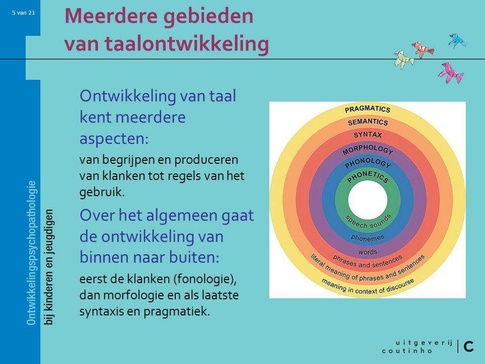 Meerdere gebieden van taalontwikkeling
