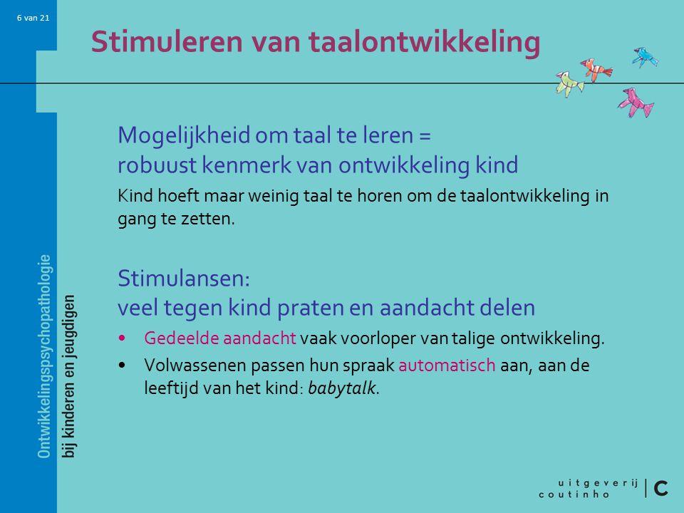 Stimuleren van taalontwikkeling