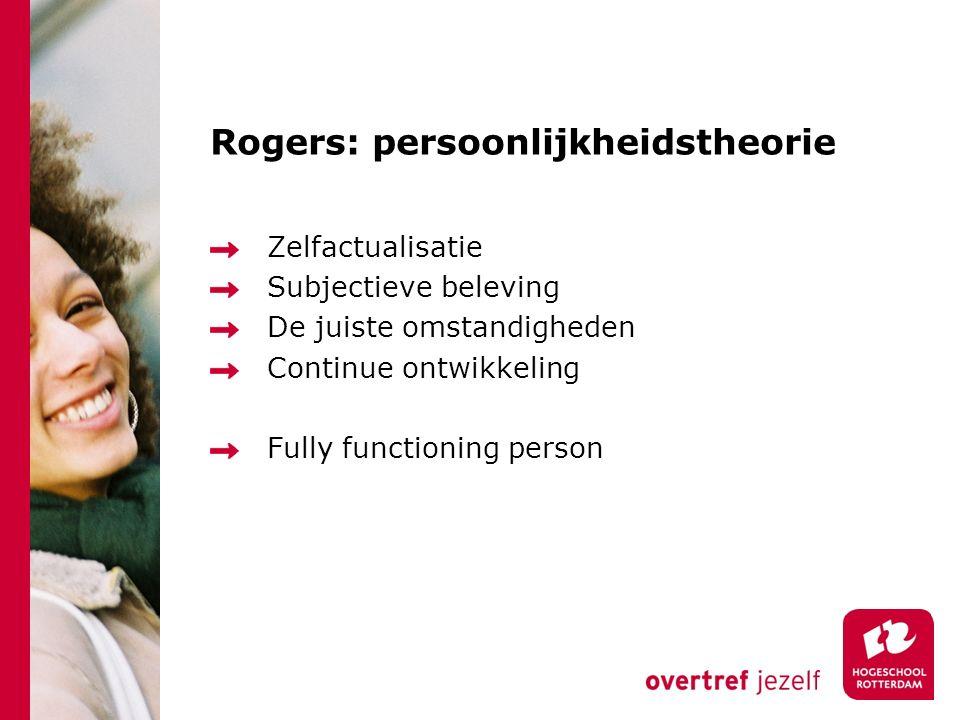 Rogers: persoonlijkheidstheorie
