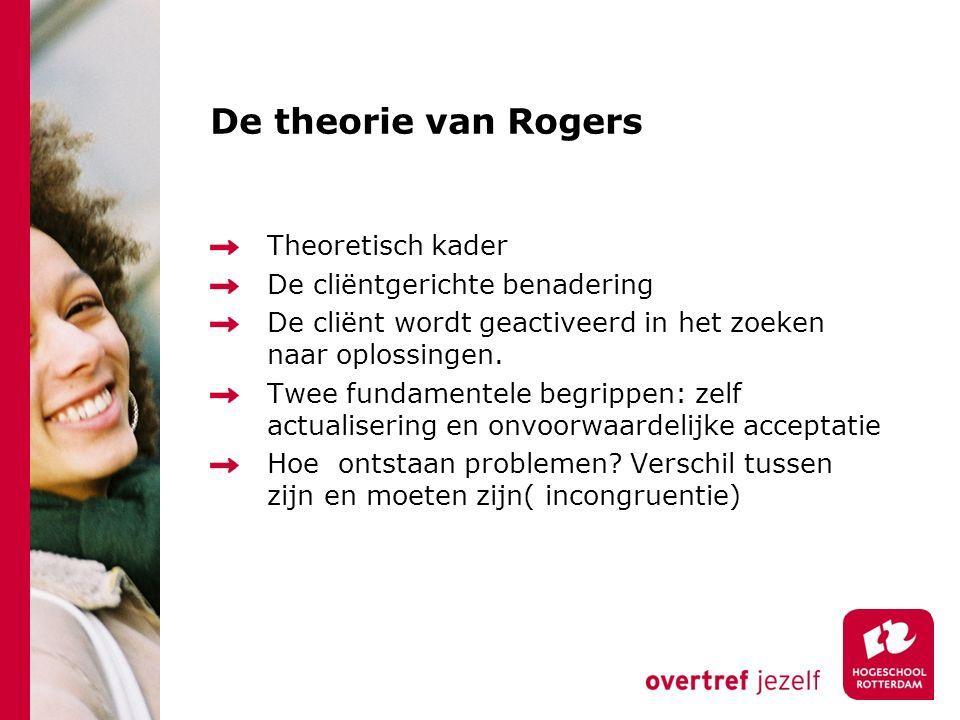 De theorie van Rogers Theoretisch kader De cliëntgerichte benadering