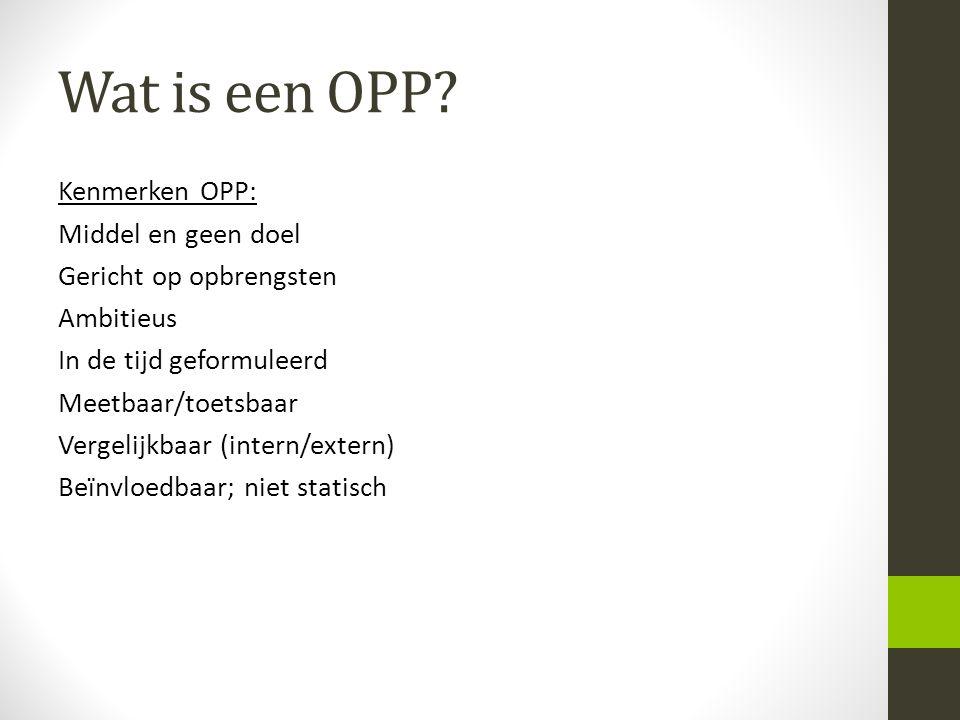 Wat is een OPP