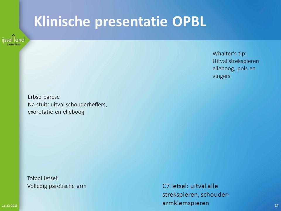 Klinische presentatie OPBL