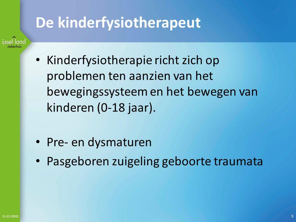 De kinderfysiotherapeut