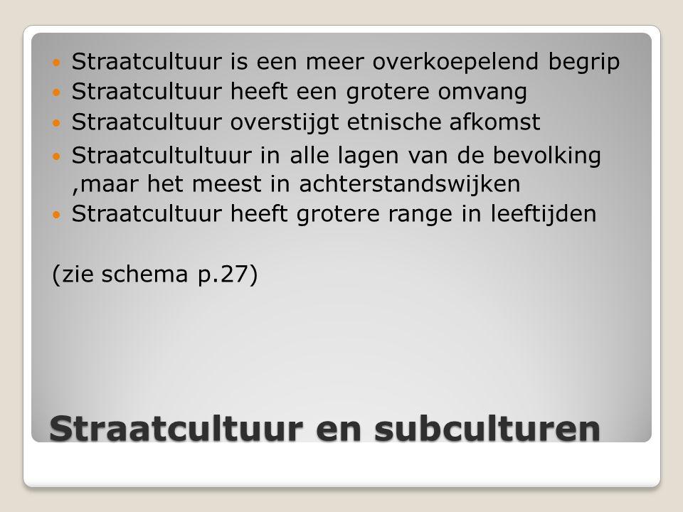 Straatcultuur en subculturen