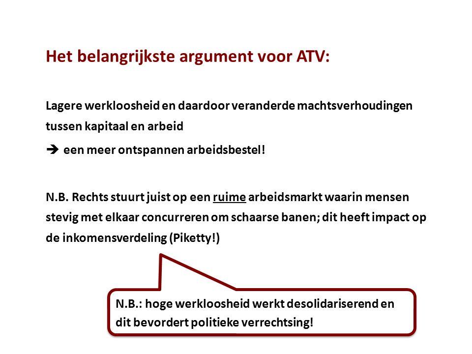 Het belangrijkste argument voor ATV: