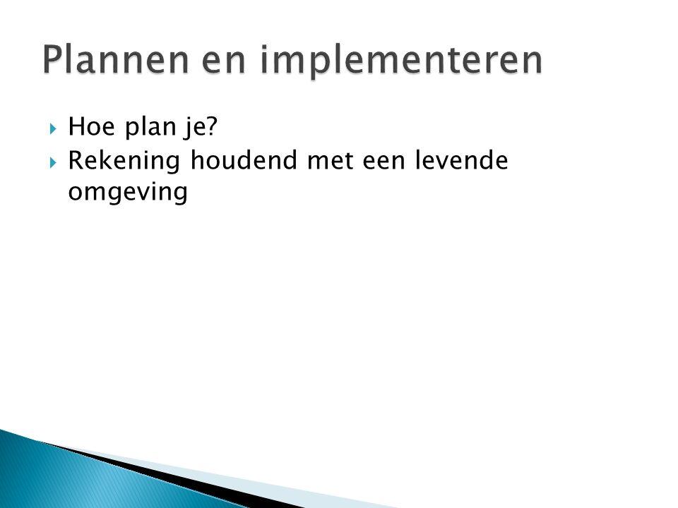 Plannen en implementeren