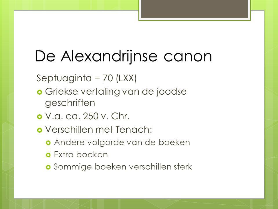 De Alexandrijnse canon