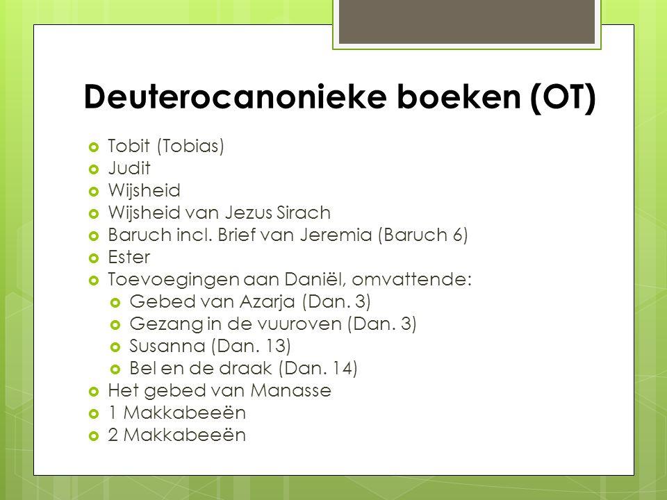 Deuterocanonieke boeken (OT)