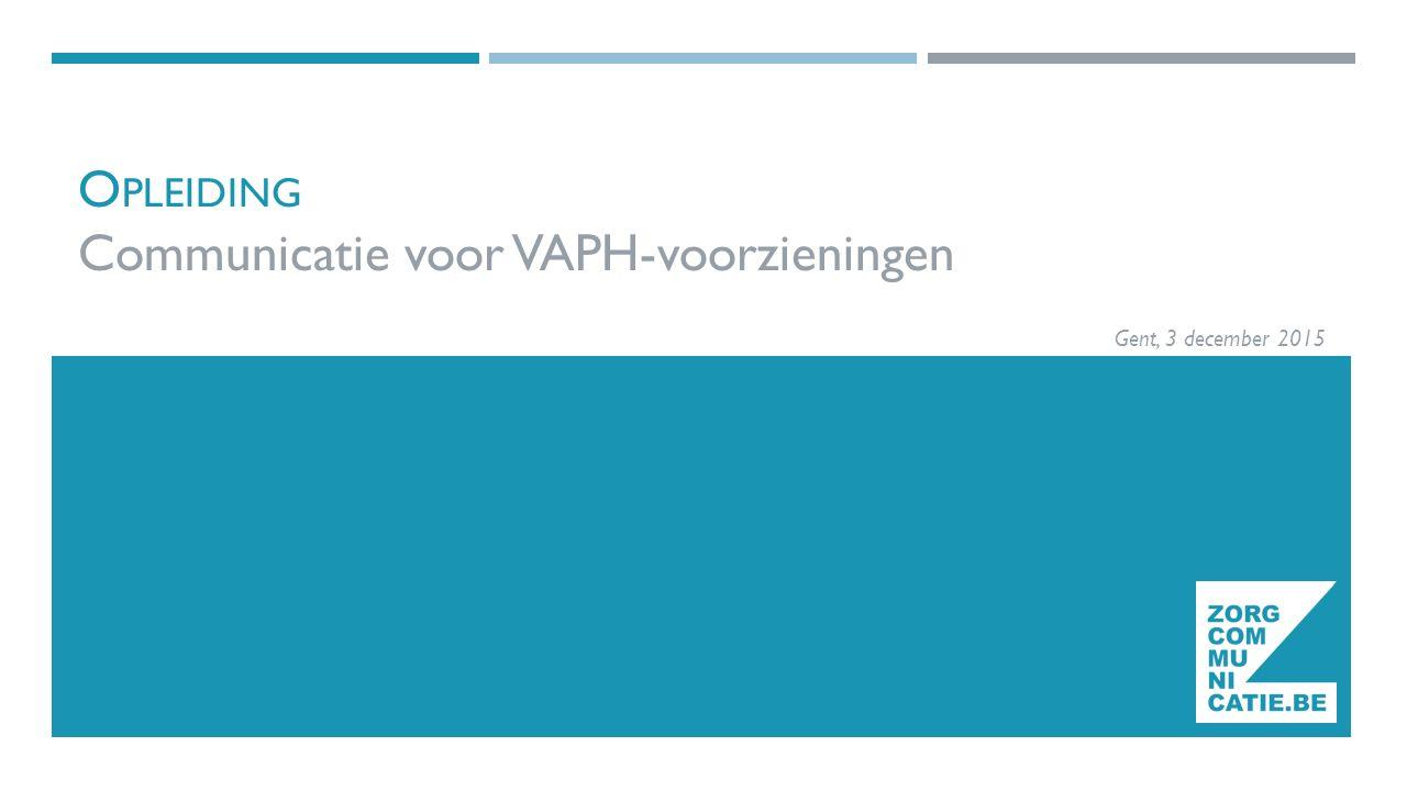 Opleiding Communicatie voor VAPH-voorzieningen