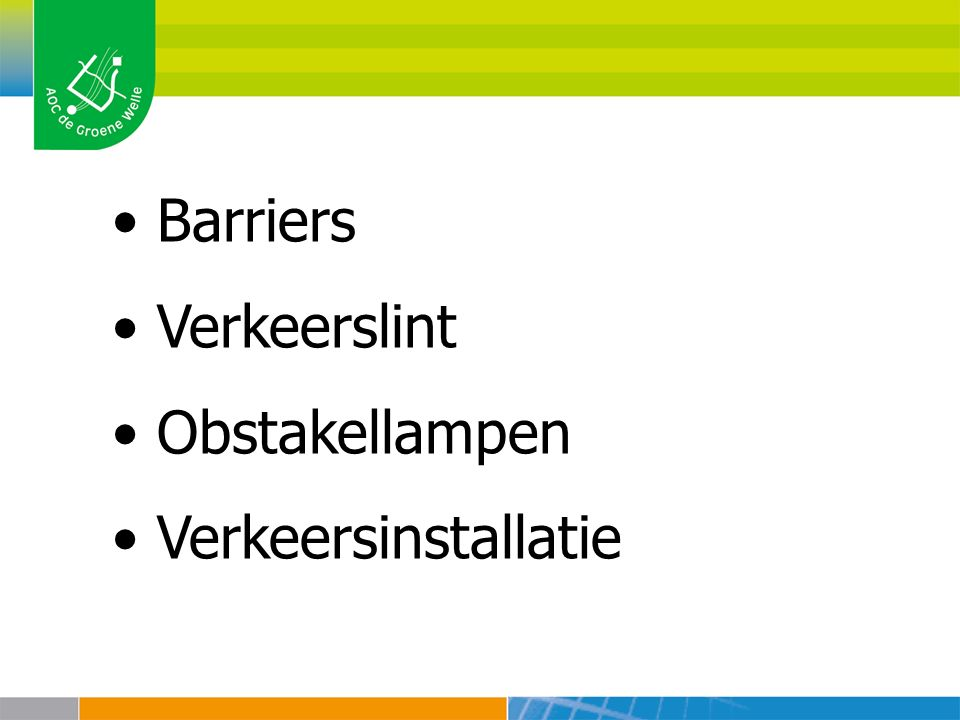 Barriers Verkeerslint Obstakellampen Verkeersinstallatie