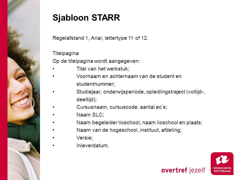 Sjabloon STARR