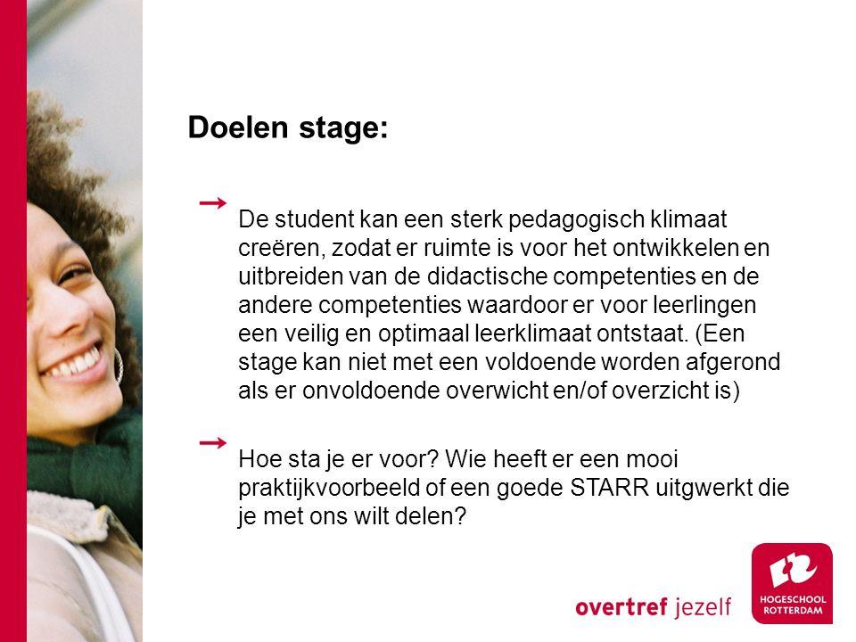 Doelen stage: