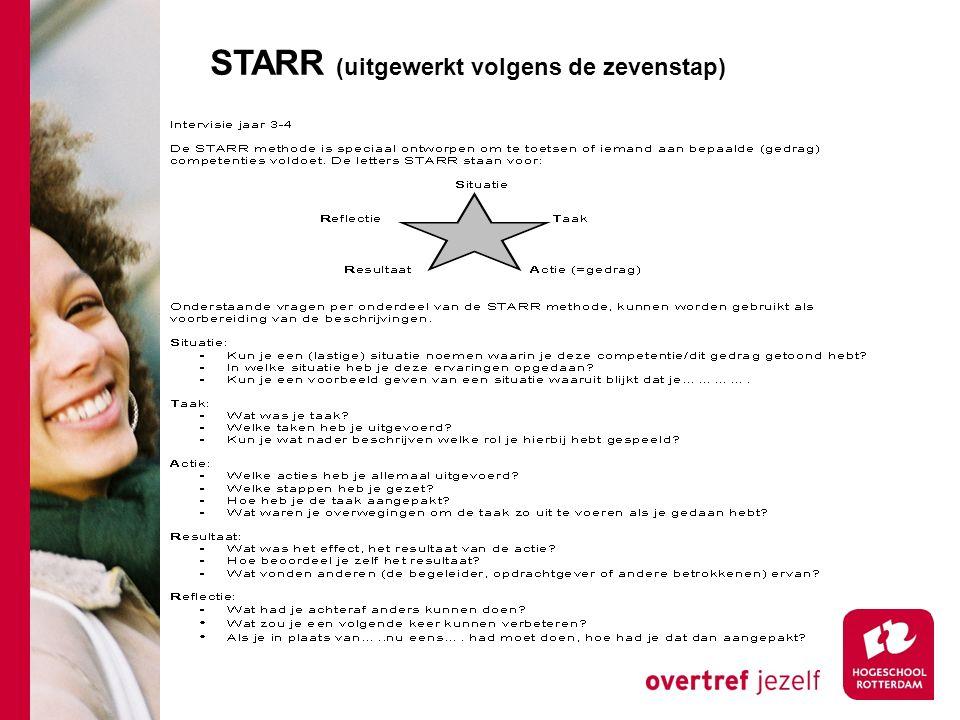 STARR (uitgewerkt volgens de zevenstap)