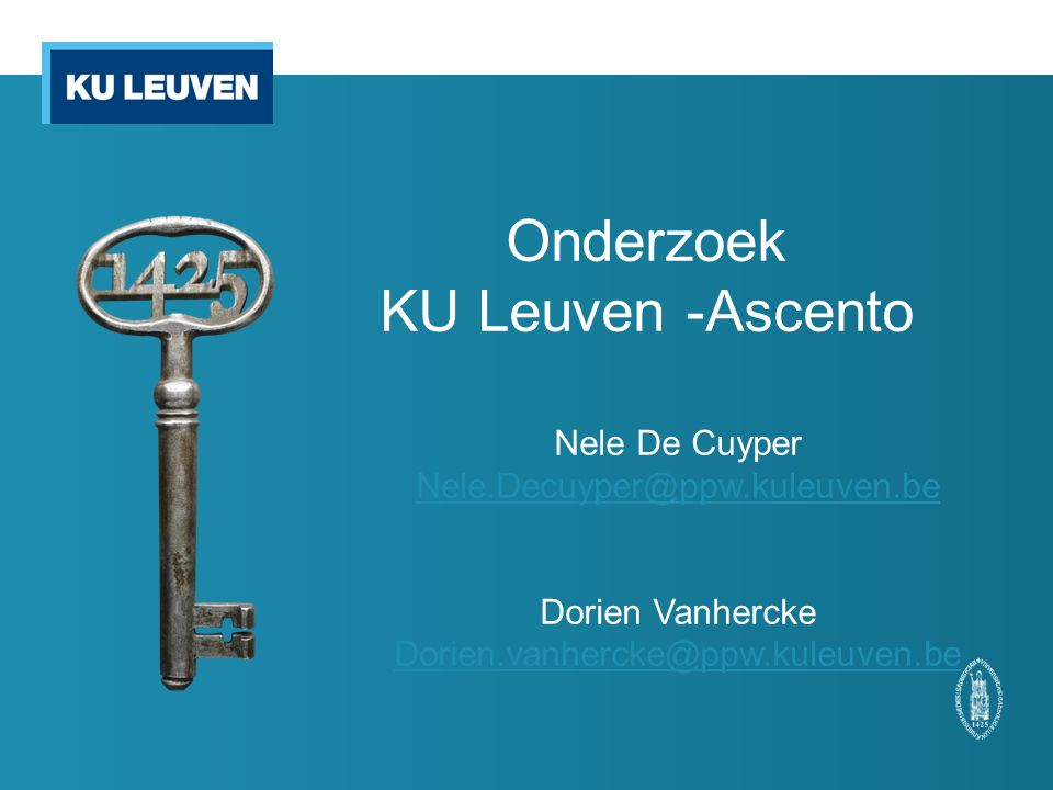 Onderzoek KU Leuven -Ascento