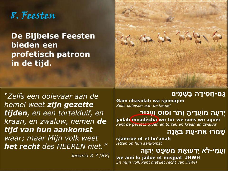 8. Feesten De Bijbelse Feesten bieden een profetisch patroon