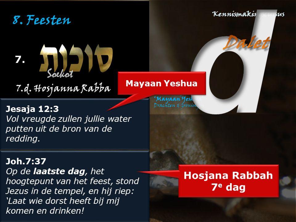 8. Feesten 7. 7.d. Hosjanna Rabba Hosjana Rabbah 7e dag Mayaan Yeshua