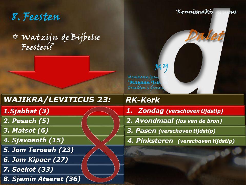 8. Feesten Wat zijn de Bijbelse Feesten WAJIKRA/LEVITICUS 23: RK-Kerk