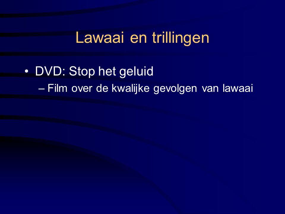 Lawaai en trillingen DVD: Stop het geluid
