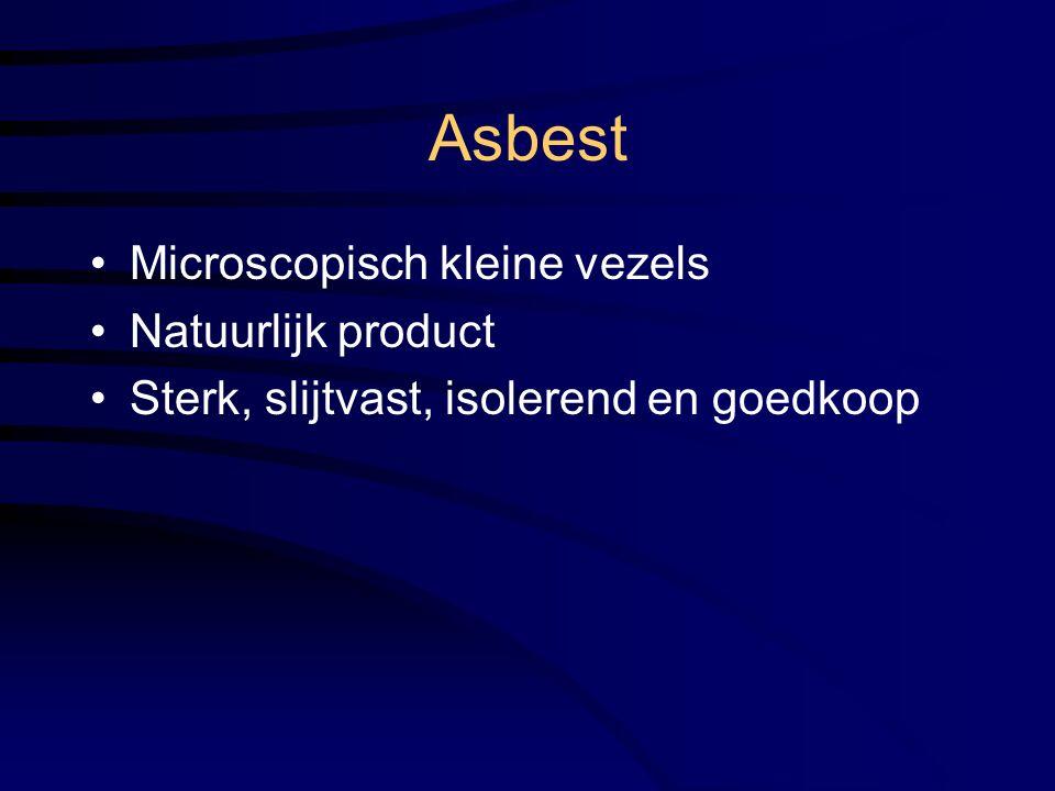 Asbest Microscopisch kleine vezels Natuurlijk product