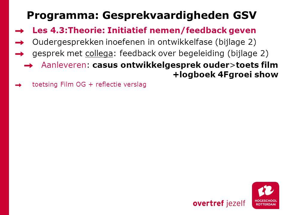 Programma: Gesprekvaardigheden GSV