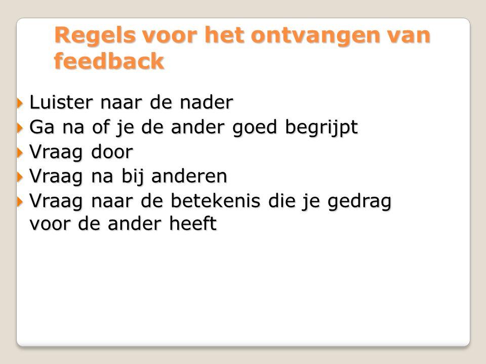 Regels voor het ontvangen van feedback