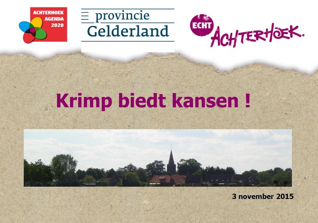 Krimp biedt kansen ! 3 november 2015