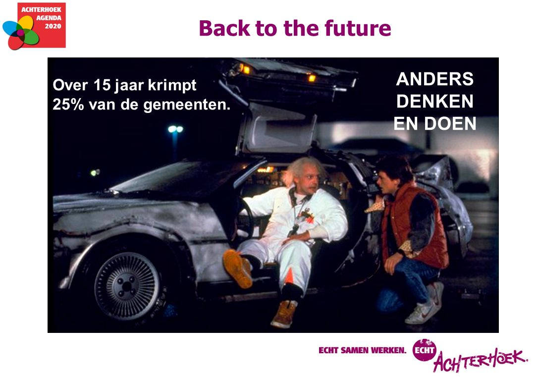 Back to the future ANDERS DENKEN EN DOEN Over 15 jaar krimpt