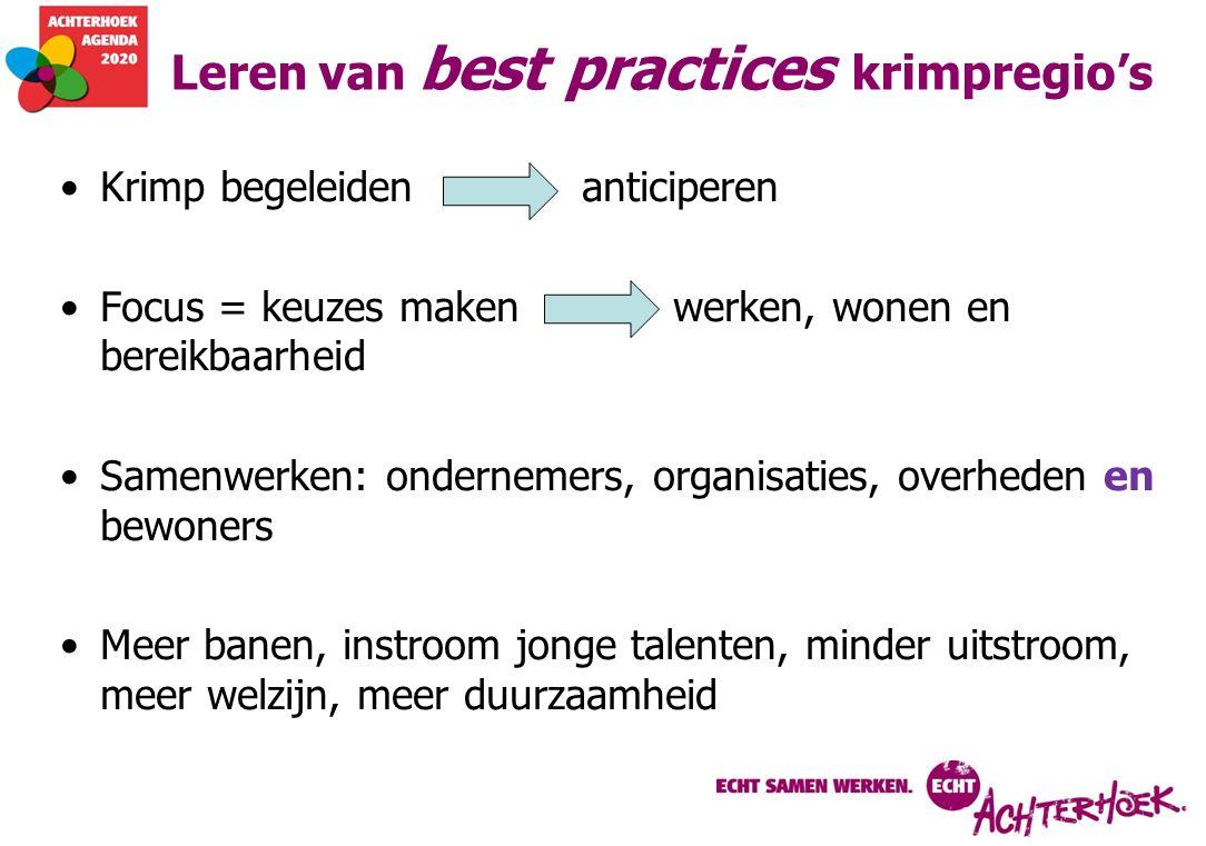 Leren van best practices krimpregio's