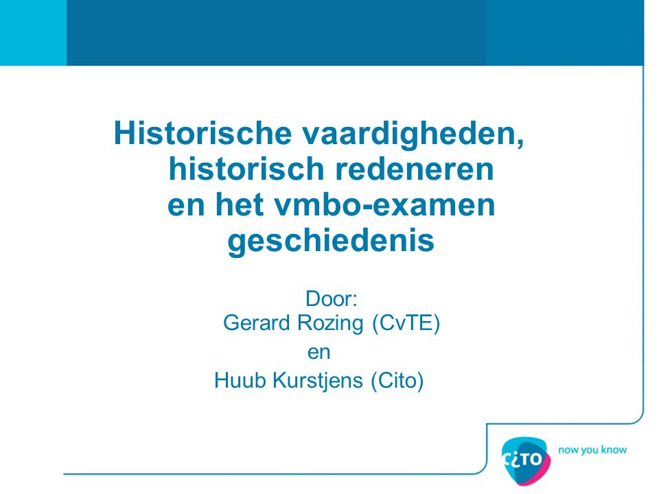 Door: Gerard Rozing (CvTE)