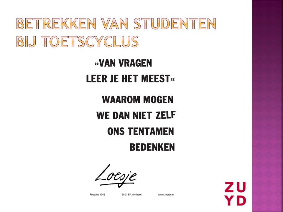 Betrekken van studenten bij toetscyclus