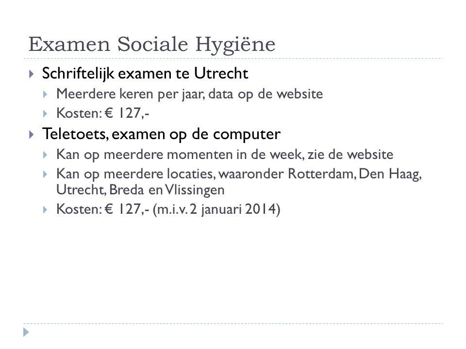 Examen Sociale Hygiëne