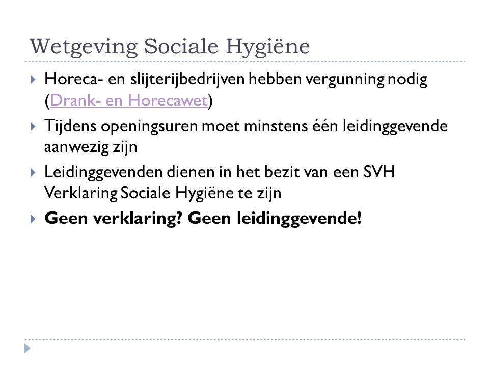Wetgeving Sociale Hygiëne