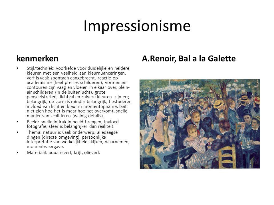 Impressionisme kenmerken A.Renoir, Bal a la Galette