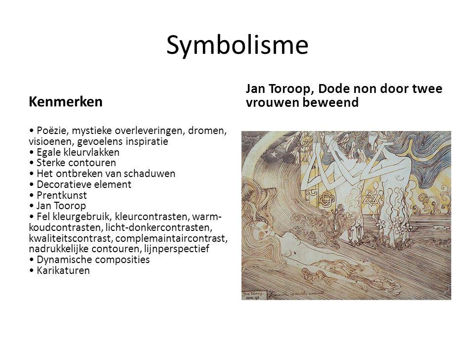 Symbolisme Kenmerken Jan Toroop, Dode non door twee vrouwen beweend