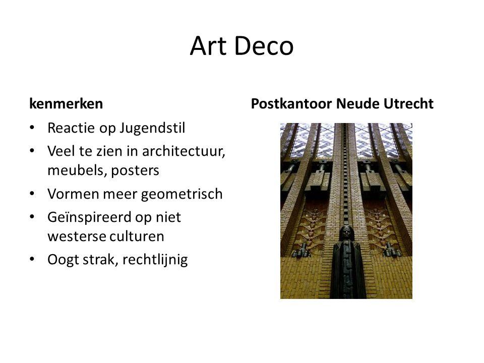 Art Deco kenmerken Postkantoor Neude Utrecht Reactie op Jugendstil